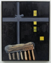 Lois Dodd, <em>Chair, Night Window</em>, 2016. Courtesy the artist and 1969 Gallery (Matthew Carlson).