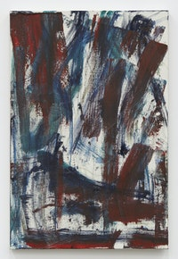 Louise Fishman, <em>Ayzn</em>, 2020. Oil on linen, 36 × 24 inches. Courtesy of the artist and Karma, New York.