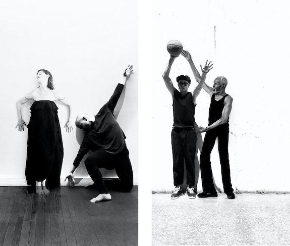 Janessa Clark's <em>Communion</em>, 2020 (still). Duet #13: Ivy Baldwin & Saúl Ulerio and Duet #9: Gus Solomons Jr. & Guy Whitney.