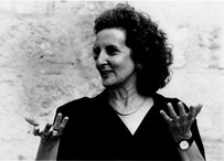 Photo of Trisha Brown by Vincent Pereira.