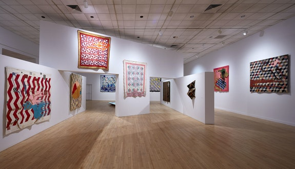 Installation view: <em>Sanford Biggers: Codeswitch</em>, The Bronx Museum of the Arts, 2020. Photo: Argenis Apolinario. Courtesy Bronx Museum of the Arts.