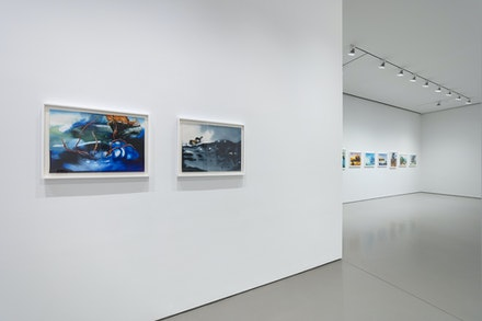Installation view: Alexis Rockman: <em>Lost Cargo: Watercolors</em>, Sperone Westwater, New York, 2020. Courtesy Sperone Westwater.