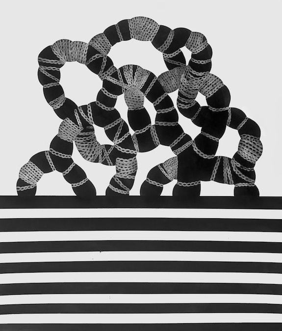 Shoshanna Weinberger, <em>Uprising</em>, 2020, Gouache and ink on paper, 69 x 60 inches. © Shoshanna Weinberger 2020. Courtesy the artist.