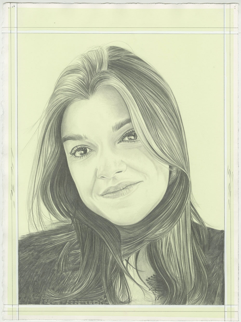 Portrait of Jasmine Wahi. Pencil on Paper by Phong H. Bui