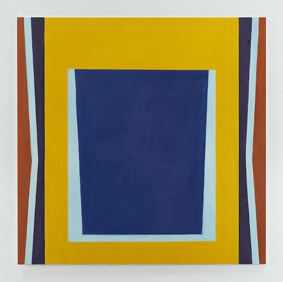 Jo Baer, <em>The Risen (Blockade)</em>, 1960-1961/2019. Oil on canvas, 72 3⁄8 × 72 3⁄8 inches. © Jo Baer. Courtesy Pace Gallery.