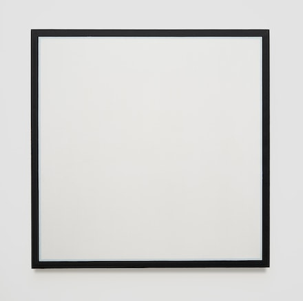 Jo Baer, <em>Untitled (Pale Blue)</em>, 1964–65. Oil on canvas, 48 × 48 inches. © Jo Baer. Courtesy Pace Gallery.