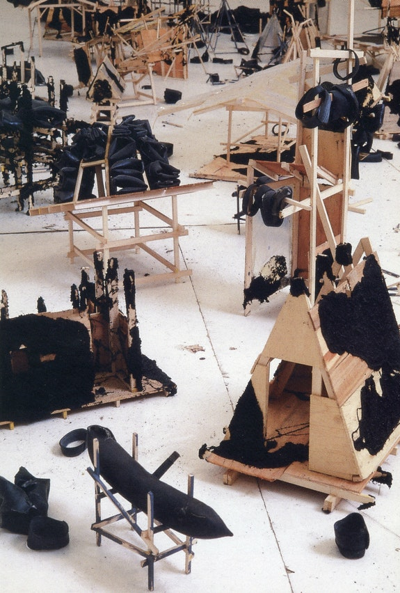 Brad Kahlhamer, <em>Old Tucson</em>, 1994. Wood, wire, wire. Dimensions variable. Courtesy the artist.