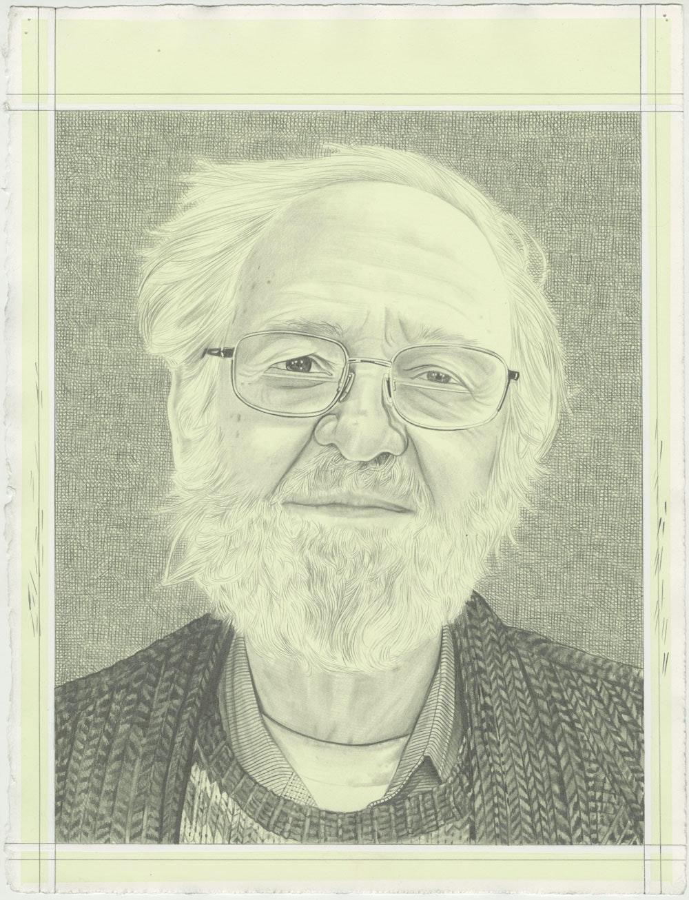 Jim Melchert, pencil on paper by Phong H. Bui.