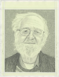 Jim Melchert, pencil on paper by Phong H. Bui.