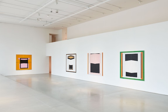 Installation view: <em>Jo Baer: The Risen / Originals</em>, Pace Gallery, New York, 2020. Courtesy Pace Gallery.