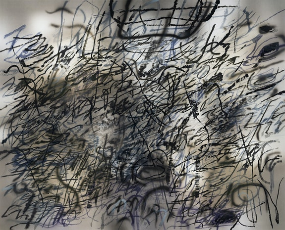 Julie Mehretu, <em>Slouching Towards Bethlehem: Third Seal (R 6:5)</em>, 2020. Photogravure and aquatint, 66 7/8 x 81 7/8 inches. Courtesy the artist, BORCH Gallery & Editions and Marian Goodman Gallery.