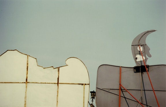 "Luigi Ghirri, <em>Modena</em>, from the series ""Il paese dei balocchi,""  1978. Vintage c-print, 7 3/4 x 11 5/8 inches. © The Estate of Luigi Ghirri, Courtesy Matthew Marks Gallery."