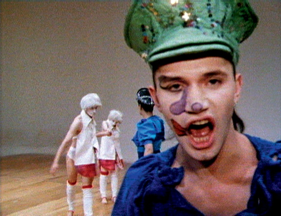Michael Clark in Charles Atlas's <em>Hail the New Puritan</em>, 1986. 16mm film transferred to video, sound, 84:54 minutes. © Charles Atlas. Courtesy the artist and Luhring Augustine, New York.