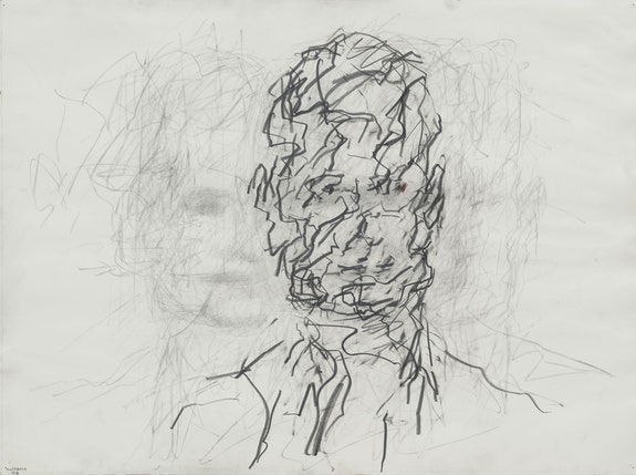 Frank Auerbach, <em>Head of David Landau</em>, 2006. Pencil and graphite on paper, 22 1/2 x 30 1/4 inches. Private collection, Devon. © Frank Auerbach; Courtesy Marlborough Fine Art, London and Luhring Augustine, New York.