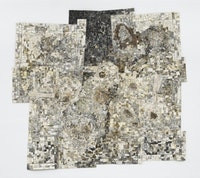Jack Whitten, <em>Memory Sites</em>, 1995. Acrylic on canvas, 126 x 140 inches. © Jack Whitten Estate. Courtesy the Jack Whitten Estate and Hauser & Wirth. Photo: Dan Bradica.