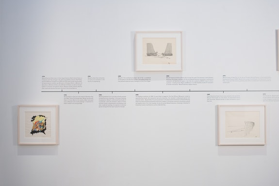 Installation view: <em>Wassef Boutros-Ghali: A Retrospective</em>, albertz benda, New York, 2020. Courtesy the artist and albertz benda, New York. Photo: Casey Kelbaugh.