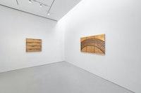 Installation view: <em>Otto Piene: Rasterbilder / Ceramics</em>, Sperone Westwater, New York, 2020–21. Courtesy Sperone Westwater.