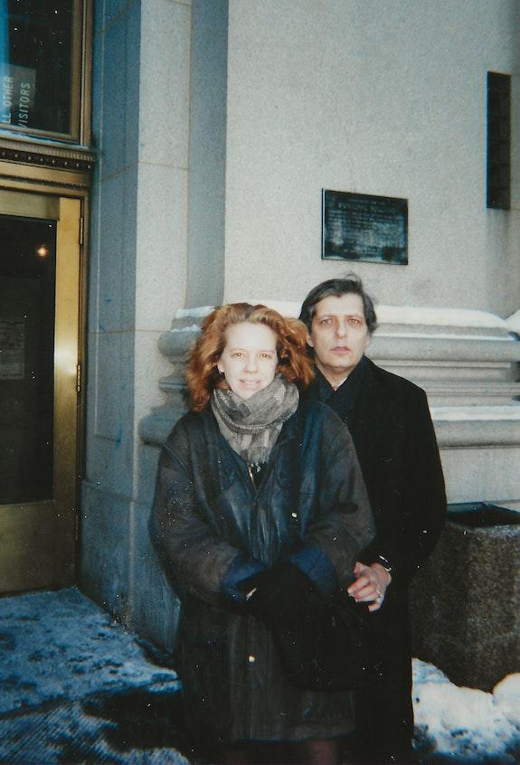 Katt Lissard and Lewis, City Hall, New York. January, 2001. Photo: KB Nemcosky.