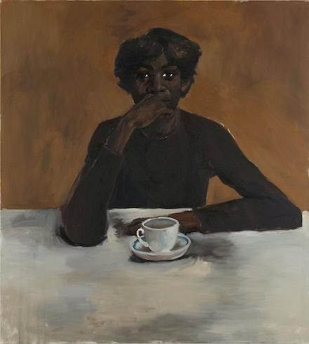 Lynette Yiadom-Boakye, <em>No Such Luxury</em>, 2012. Oil on canvas, 78 3/4 x 71 inches. © Lynette Yiadom-Boakye. Courtesy the artist.