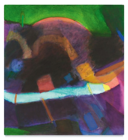 Emily Mason, <em>The Green In Go</em>, 1983. Oil on canvas, 52 x 48 1/4 inches. Courtesy the Emily Mason and Alice Trumbull Mason Foundation and Miles McEnery Gallery, New York.