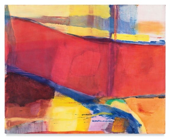 Emily Mason, <em>Bound to Opposing Winds</em>, 1978. Oil on canvas, 40 x 50 inches. Courtesy the Emily Mason and Alice Trumbull Mason Foundation and Miles McEnery Gallery, New York.
