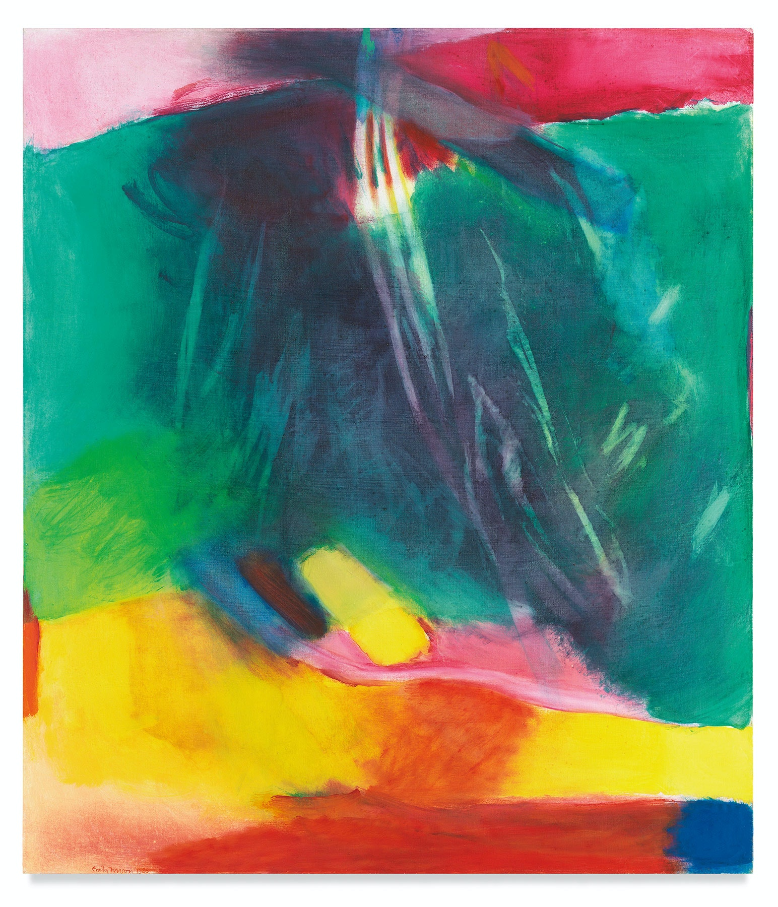 Emily Mason, <em>Surpassing Ermine</em>, 1985–86. Oil on canvas, 60 x 52 inches. Courtesy the Emily Mason and Alice Trumbull Mason Foundation and Miles McEnery Gallery, New York.