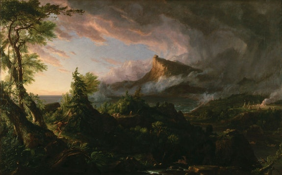 Thomas Cole, <em>The Course of Empire: Savage State</em>, ca.1834. Oil on canvas. New-York Historical Society.