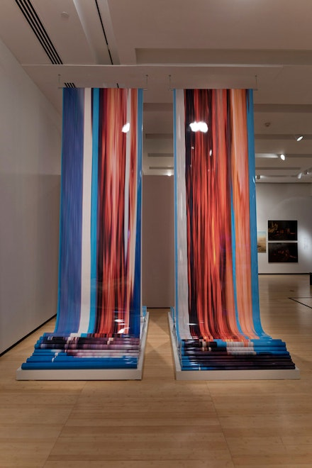 Dinh Q. Lê, <em>Scrolls 1 and 4 from WTC from Four Perspectives</em>, 2016. Two C-print scrolls (exhibition prints, 2020). Asia Society, New York. Exhibition prints courtesy of the artist © Dinh Q. Lê. Photo: Perry Hu © Dinh Q. Lê.