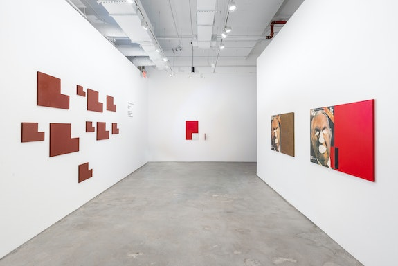 Installation view: <em>Cross-cuts</em>, Nara Roesler, New York, 2021. Courtesy Nara Roesler. Photo: Charles Roussel.