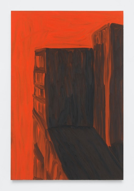 Martha Diamond, <em>Orange Light</em>, 1983. Oil on linen, 84 x 56 inches. Courtesy Magenta Plains.