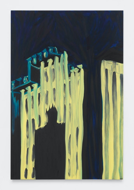 Martha Diamond,<em> Facade 1982</em>, 1981–82 Oil on linen, 84 x 56 inches. Courtesy Magenta Plains.