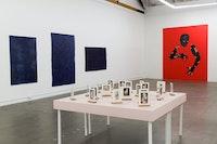 Installation view: <em>Felipe Baeza: Through the Flesh to Elsewhere</em>, The Mistake Room, Los Angeles, California, 2020. Courtesy The Mistake Room.