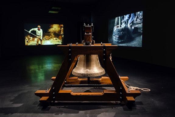 Installation view: <em>Hiwa K: Do you remember what you are burning?</em>, Jameel Art Center, Dubai, 2020-21. Courtesy Jameel Arts Centre. Photo: Daniella Baptista.