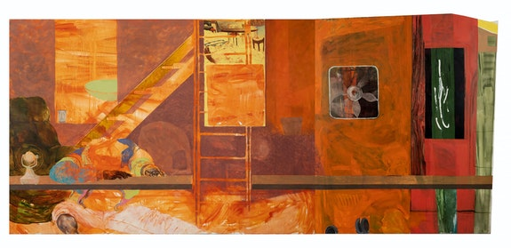Jennifer Packer, <em>Fire Next Time</em>, 2012. Oil on canvas, 72 x 156 inches. Private Collection. Photo: John Betancourt.
