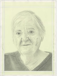 Portrait of Etel Adnan, pencil on paper by Phong H. Bui.