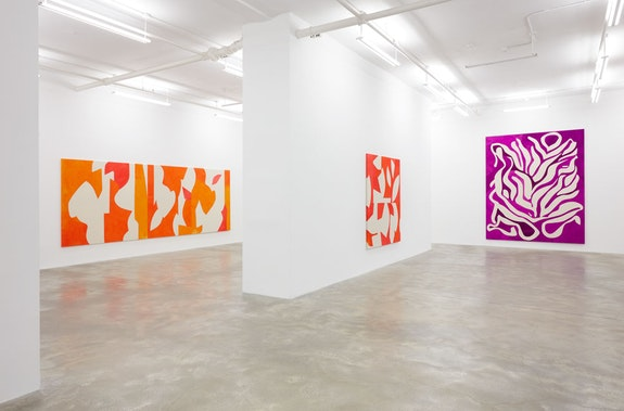 Installation view, <em>Sarah Crowner</em>, Casey Kaplan, New York, 2020. Courtesy the artist and Casey Kaplan, New York