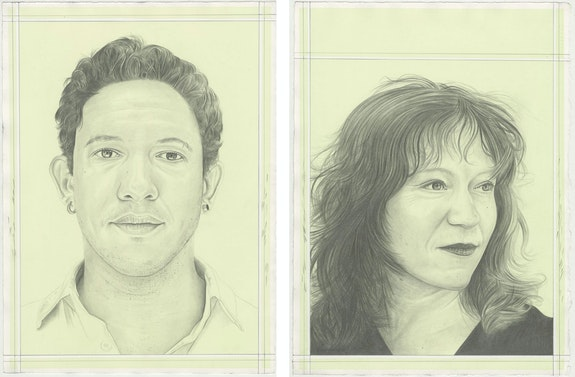 Tiago Gualberto and Sara Roffino, pencil on paper by Phong H. Bui