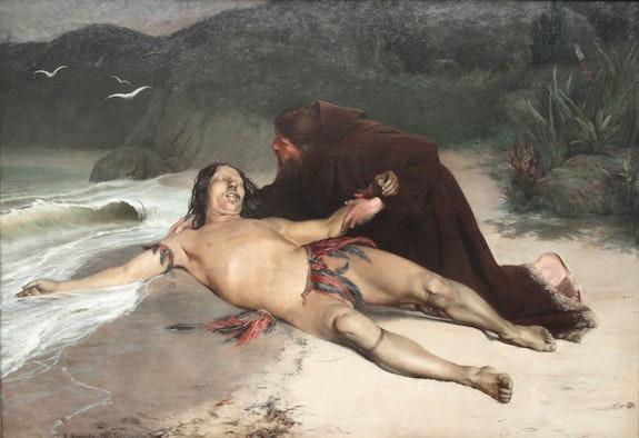 Rodolfo Amoedo, <em>The Last Tamoio</em>, 1883. Oil on canvas, 71 x 102 inches. Museo Nacional de Belas Artes, Rio de Janeiro.
