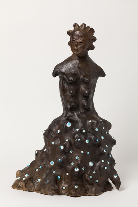 Rosana Paulino, <em>Rainha</em>, 2006. Terracotta and glass. Courtesy the artist.