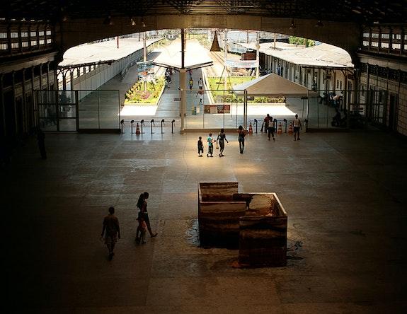 Caetano Dias, <em>Sweet Song</em> - <em>Small Labyrinth</em>, 2006. Installation, fragment of labyrinth, in the shape of two