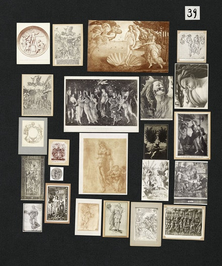 Aby Warburg,<em> Bilderatlas Mnemosyne</em>, Panel 39. Courtesy The Warburg Institute, London