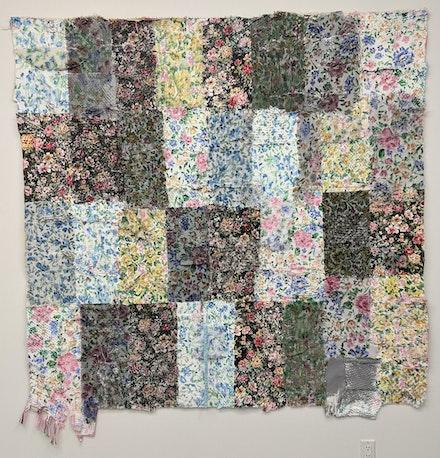 Manuela Gonzalez, <em>Untitled</em>, 2020. Acrylic on Mixed Textiles, 72 x 77 inches. Courtesy the artist and Transmitter. Photo: Carl Gunhouse.