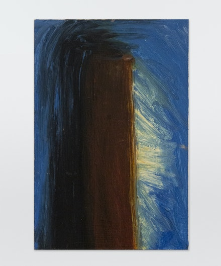 Martha Diamond, <em>14</em>, ca. 1980s. Oil on Masonite, 9 x 6 inches. Courtesy Magenta Plains.