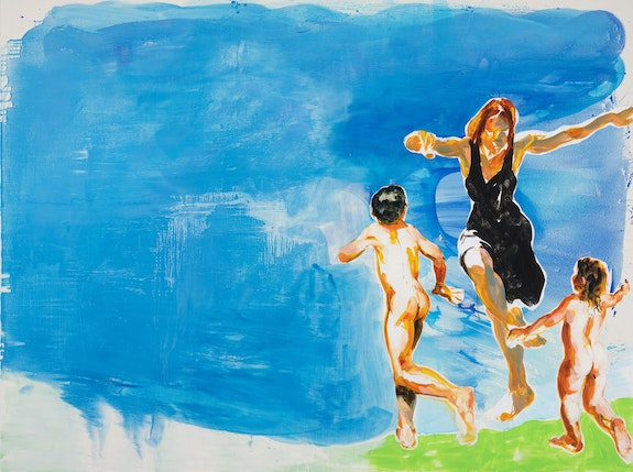 Eric Fischl, <em>Inexplicable Joy in the Time of Corona</em>, 2020. Acrylic and oil on linen, 78 x 105 inches. © Eric Fischl / Artist Rights Society (ARS), New York. Courtesy of the artist and Skarstedt, New York.