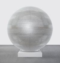 Tara Donovan, <em>Sphere</em>, 2020. PETG, 72 inch diameter. Courtesy Pace Gallery.