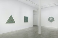 Installation view: <em>Monir Shahroudy Farmanfarmaian: Mirror-works and Drawings (2004–2016)</em>, James Cohan, New York. © Estate of Monir Shahroudy Farmanfarmaian 2021. Courtesy the estate and James Cohan, New York. Photo: Phoebe d'Heurle.