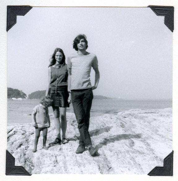 Kate Berrigan, Anne Waldman, and Lewis, 1968. Photo: Ted Berrigan. Included in <em>Bustin's Island '68</em>.