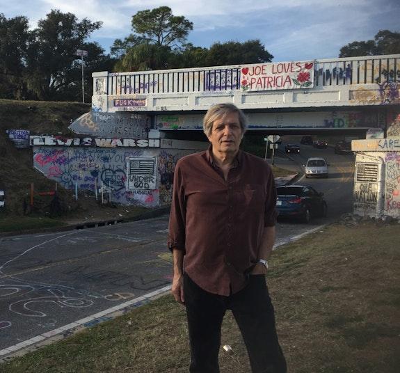 Lewis at the Graffiti Bridge, 2016,  Pensacola, Florida. Photo: Jamey Jones.