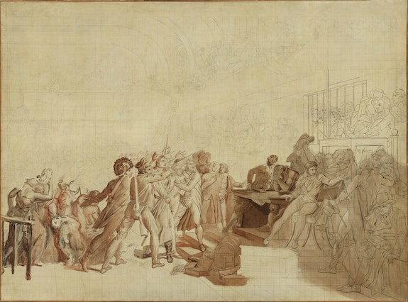 Baron François-Pascal-Simon Gérard, <em>The 10th of August, 1792</em>, circa 1795–99. Oil with graphite on canvas, 42 × 56 3/4 inches. Los Angeles County Museum of Art, the Ciechanowiecki Collection, gift of the Ahmanson Foundation.