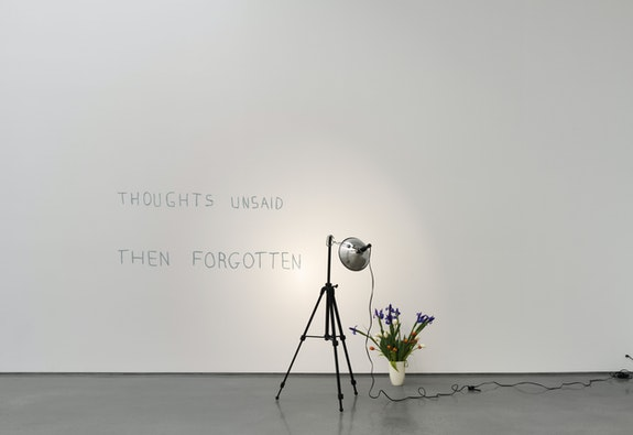 Bas Jan Ader, <em>Thoughts Unsaid, Then Forgotten</em>, 1973. Installation view at Metro Pictures, New York. © The Estate of Bas Jan Ader / Mary Sue Ader Andersen, 2021 / The Artist Rights Society (ARS), New York. Courtesy Meliksetian | Briggs, Los Angeles and Metro Pictures, New York. Photo: Genevieve Hanson.